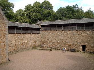 Dean Castle - The wooden walkway