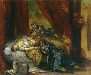 The Death of Desdemona, by Eugène Ferdinand Vi...