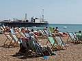 Deckchairs and sunbathers on a sunny Sunday, Brighton beach - geograph.org.uk - 1338763.jpg