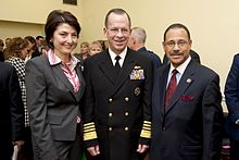 McMorris in 2009 with Adm. Mike Mullen and Rep. Sanford Bishop