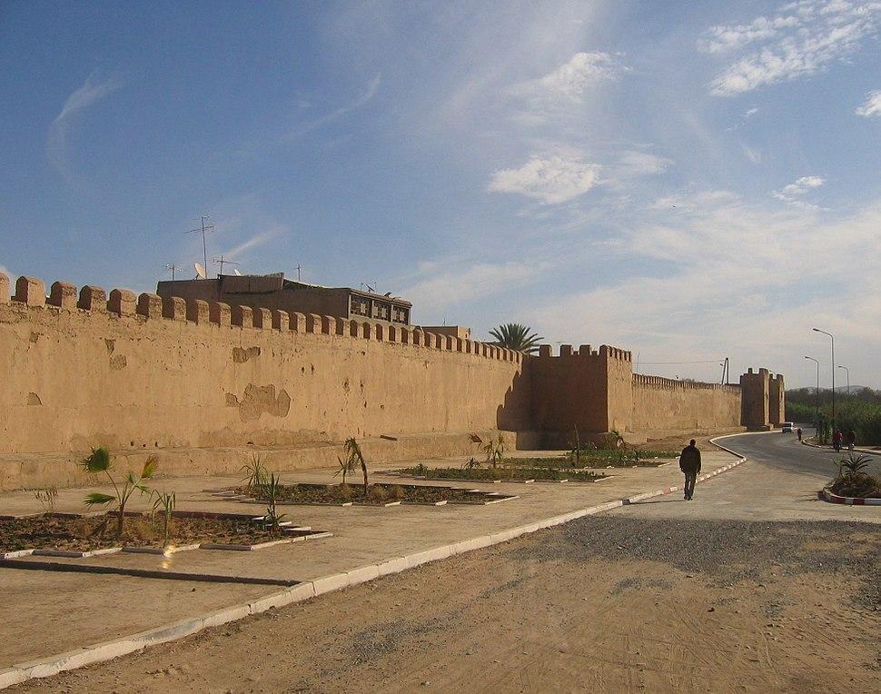 A defensive wall in Taroudannt, Morocco