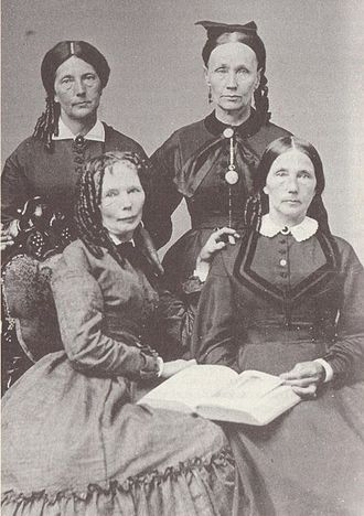 Delia Webster - Delia Webster, abolitionist. Delia (front left) with her sisters: Mary Jane (front right), Martha (back left), and Betsey (back right).