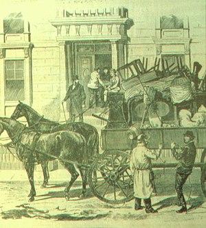 « Avec l'aide des chevaux », dessin tiré du Mo...