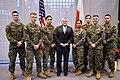 Deputy Secretary Sullivan Poses for a Photo With Marine Security Guards (32512527738).jpg