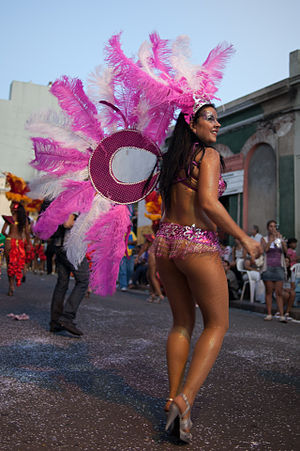 Uruguayans - The Desfile de Llamadas carnival in Montevideo.
