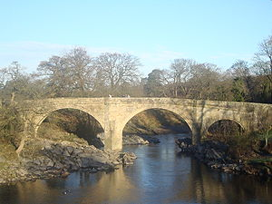 Kirkby Lonsdale - Devil's Bridge over the River Lune in Kirkby Lonsdale