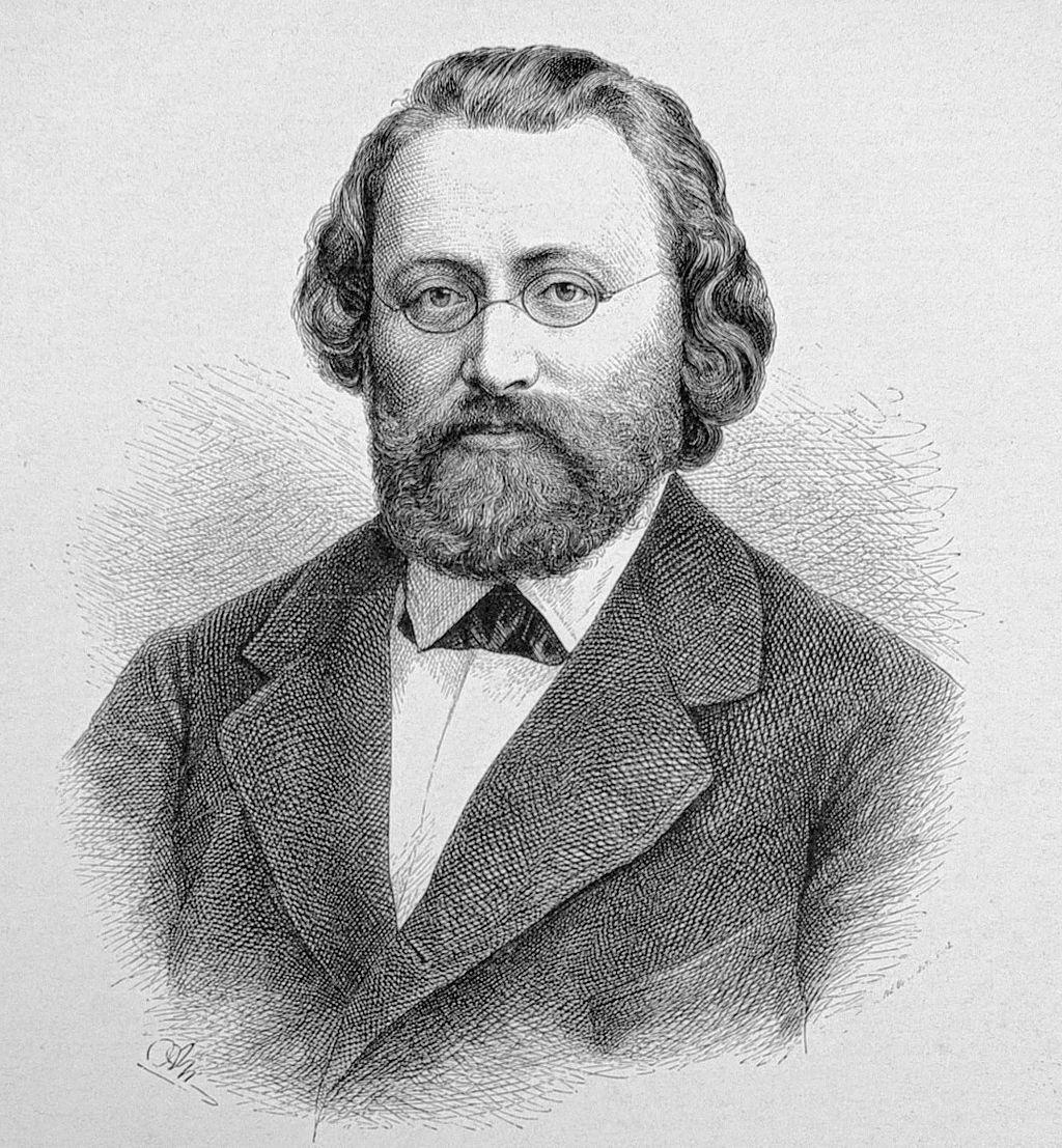 Max Bruch. Nach einer Photographie auf Holz gezeichnet von Adolf Neumann.