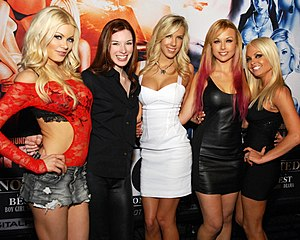Digital Playground - Digital Playground Girls: Riley Steele, Stoya, BiBi Jones, Kayden Kross, and Jesse Jane, at the AVN Expo, Las Vegas, Nevada on January 18, 2012