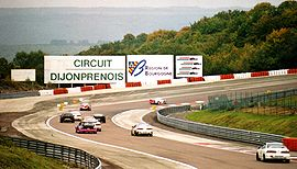 Parabolic curve of the circuit de Dijon-Prenois