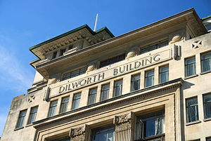 Dilworth Building - Decorative elements on the upper floors.