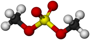 Dimethyl sulfate - Image: Dimethyl sulfate Molecule 3D balls by AHRLS 2012