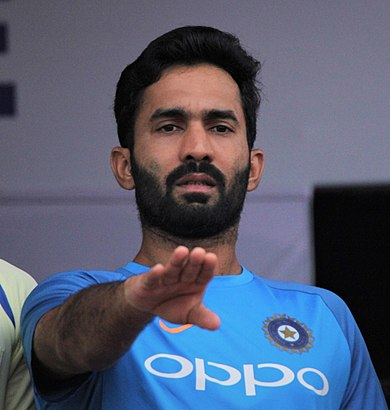 Dinesh Karthik - (born 1 June 1985) is an Indian wicket-keeper and batsman who made his debut for the Indian cricket team in 2004. He became captain of the Kolkata Knight Riders Indian Premier League team during the 2018 season.