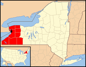 Roman Catholic Diocese of Buffalo - Image: Diocese of Buffalo map 1