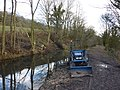 Dirty digger on Cromford Canal - geograph.org.uk - 1735696.jpg