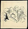 Disegno per copertina di libretto, disegno di Peter Hoffer per Gianni Schicchi (1954) - Archivio Storico Ricordi ICON012356.jpg