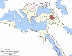 Diyarbekir Eyalet - Image: Diyarbarik Eyalet, Ottoman Empire (1609)