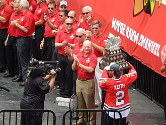 Duncan Keith - Keith with the Conn Smythe Trophy in 2015.