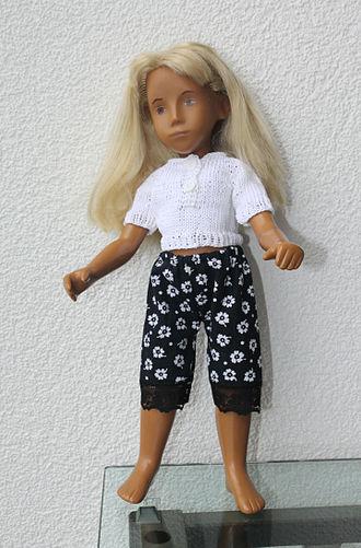 "Sasha Morgenthaler - Sasha doll, designed by Sasha Morgenthaler. Goetz, ""No Navel"" series, around 1970."