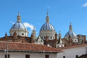 Religion in Ecuador - Arguably the most emblematic Church of Ecuador it's located in Cuenca.
