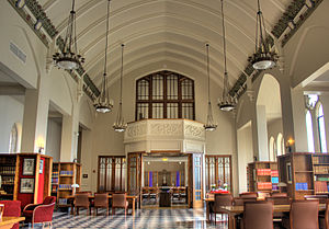 "Dominican University (Illinois) - View of the ""Old Library"" and Chapel"