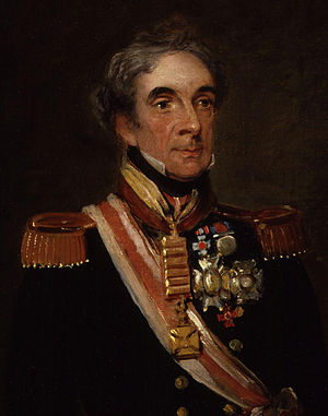 Miguel Ricardo de Álava y Esquivel - Detail of a portrait of Miguel Ricardo de Álava by William Salter