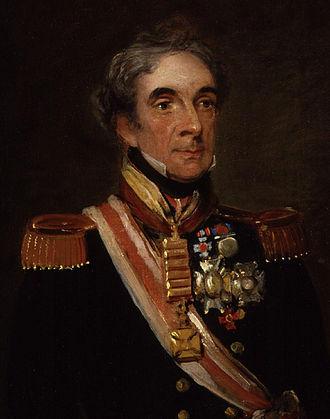 Miguel Ricardo de Álava y Esquivel - Detail of a portrait of Miguel Ricardo de Álava by William Salter