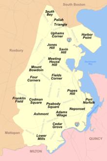 map of neighborhoods in boston Neighborhoods In Boston Wikipedia map of neighborhoods in boston