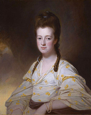 William Cavendish-Bentinck, 3rd Duke of Portland - Lady Dorothy Cavendish, wife of William Cavendish Bentinck. (George Romney)
