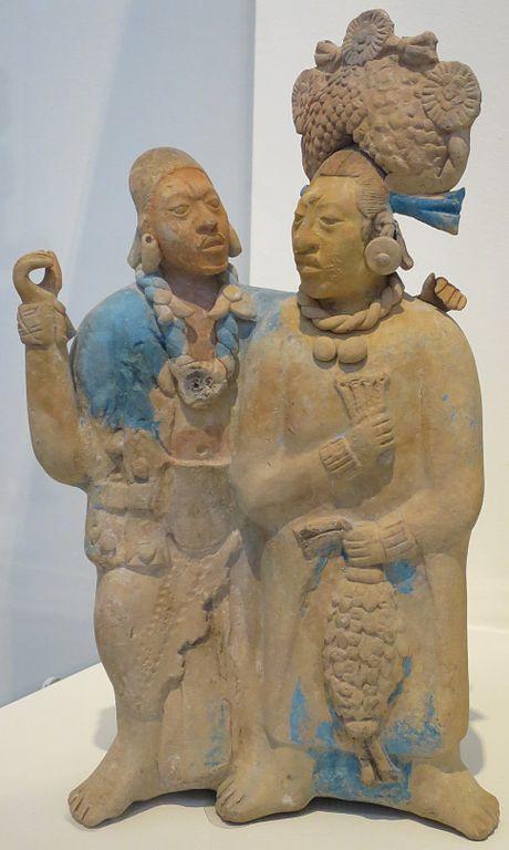 File Double Figure Maya Culture Jaina Island Honolulu