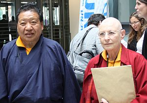 Akong Rinpoche - Akong Rinpoche and Tsultrim Zangmo in 2011