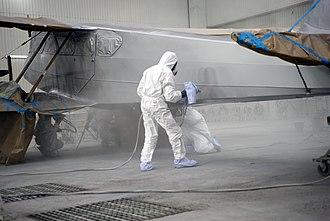 Aircraft livery - Aircraft spray painting