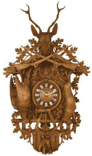Cuckoo clock - Cuckoo clock, a so-called Jagdstück (Hunt piece), Black Forest, ca. 1900, Deutsches Uhrenmuseum, Inv. 2006-013