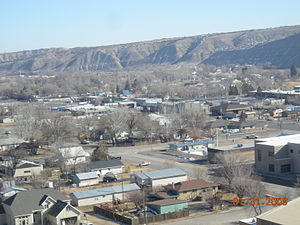 Duchesne, Utah - Looking northwest and down on Duchesne, January 2009