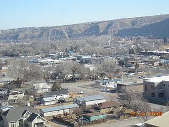 Duchesne, Utah - Looking SouthEast and down on Duchesne, January 2009