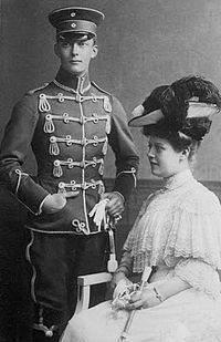 Duke Karl Borwin of Mecklenburg Strelitz and his sister Duchess Marie, Countess Jametel.jpg