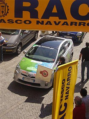 FIA Electric and New Energies Championship - World Champion 2009 and 2010 Raymond Durand starting the Ecorally Vasco-Navarro (Vitoria-Gasteiz, July 16, 2010).