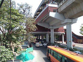 Durgabai Deshmukh South Campus metro station metro station in Delhi, India