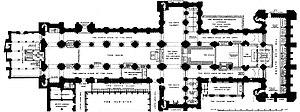 William de St-Calais - Image: Durham Cathedral plan