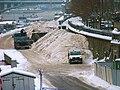 Dvořákovo nábřeží, úložiště sněhu, z Čechova mostu.jpg