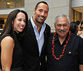 Dwayne Johnson with wife and Faleomavaega.jpg