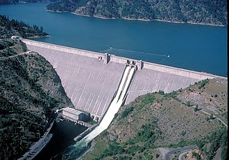 North Central Idaho - Dworshak Dam and Reservoir, northwest of Orofino