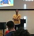 Dylan Marron delivering presentation at NC State University.jpg