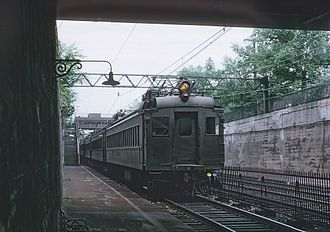 Roseville Avenue station - An Erie-Lackawanna train at Roseville Avenue in 1969
