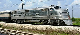 EMD E-unit - CB&Q 9911A, an EMD E5, operating at the Illinois Railway Museum, July 18, 2004.