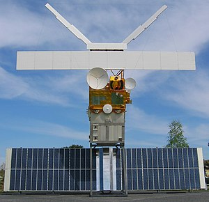 European Remote-Sensing Satellite - A full-size model of ERS-2.