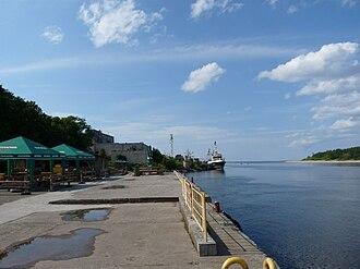 Narva-Jõesuu - Image: EU EE IV Narva Jõesuu Russia Estonia board
