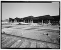 "East end. View to northwest. - South Omaha Union Stock Yards, Hog Shed (North), 2900 ""O"" Plaza, Omaha, Douglas County, NE HAER NE-10-M-4.tif"