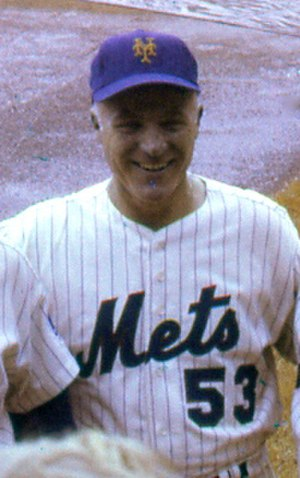 Eddie Yost - Yost as New York Mets third base coach, 1969.