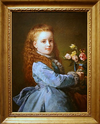 English: Oil on canvas painting of Edith Whart...