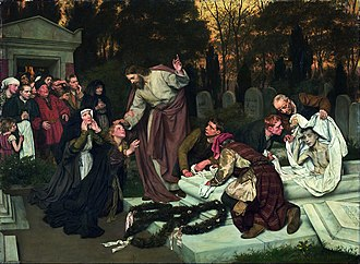 Eduard von Gebhardt - Image: Eduard von Gebhardt The Raising of Lazarus Google Art Project